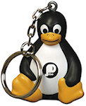 Sitting Penguin Key Chain Stress Balls